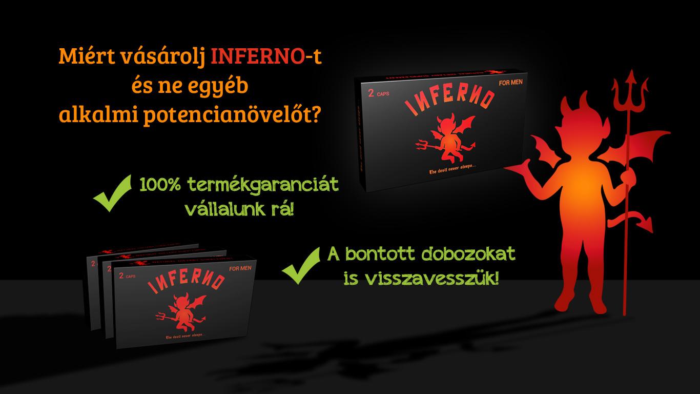 Inferno for men 100% termékgarancia